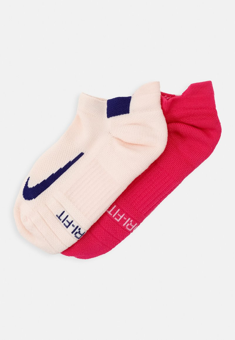 Nike Performance - MULTIPLIER MAX 2 PACK - Sports socks - pink/off white