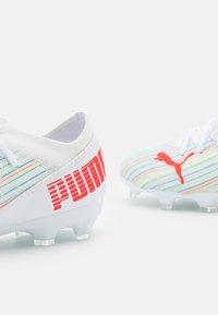 Puma - ULTRA 3.2 FG/AG JR UNISEX - Moulded stud football boots - white/red blast - 5