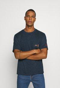 Scotch & Soda - T-shirt basic - navy melange - 0