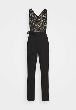 DOUBLE V - Jumpsuit - black/nude