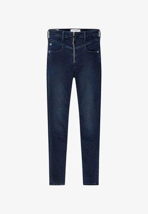 HIGH RISE  - Jeans Skinny Fit -  blue black front yoke zip