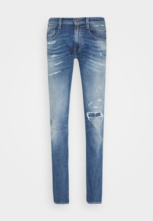 ANBASS AGED - Vaqueros slim fit - light blue