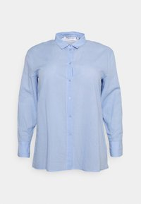 OVERSIZED BUTTON UP  - Blouse - blue