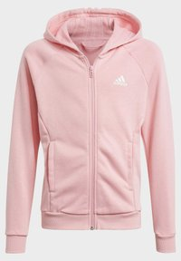 adidas Performance - G HOODED CO TS TRACKSUITS TRAINING WORKOUT TRACKSUIT - Trainingspak - pink - 1