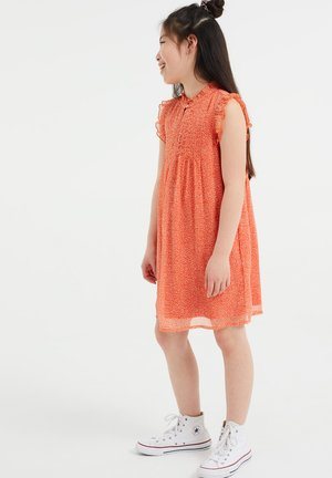Day dress - bright orange