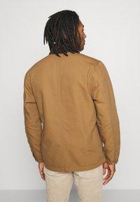 Carhartt WIP - MICHIGAN COAT DEARBORN - Kurtka wiosenna - hamilton brown rinsed - 2