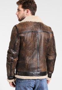 Goosecraft - LAMMY - Leather jacket - brown - 2