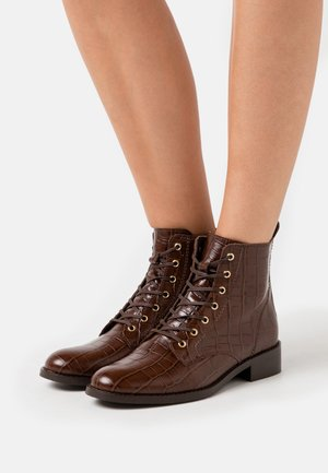 FIBI - Šněrovací kotníkové boty - marron