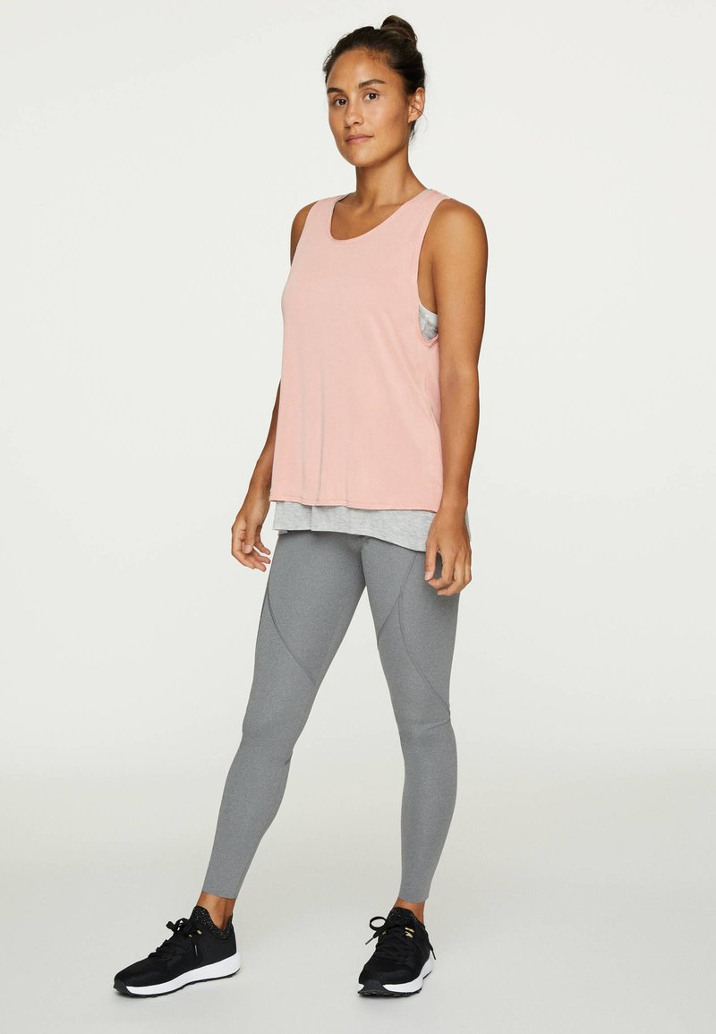 OYSHO - MODAL DOUBLE T-SHIRT - Top - rose