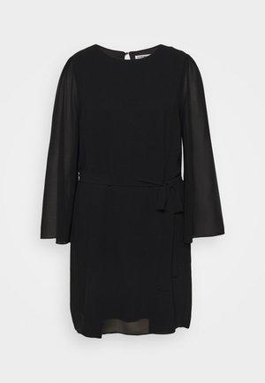 SLEEVE BELTED DRESS - Day dress - black