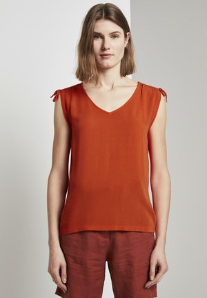 BLUSEN & SHIRTS ÄRMELLOSE BLUSE MIT SCHULTERDETAIL - Blouse - strong flame orange
