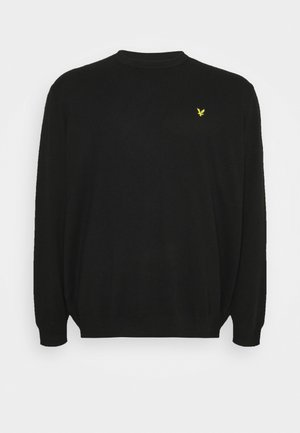PLUS CREW NECK JUMPER - Jumper - jet black