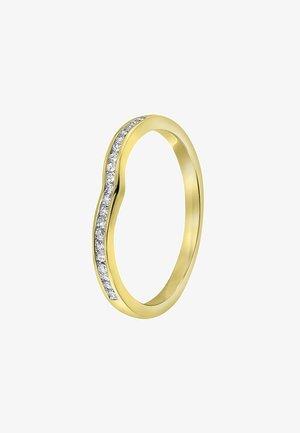 14 CT GOLD, DIAMOND 0,1CT - Ring - zilverkleurig/goud