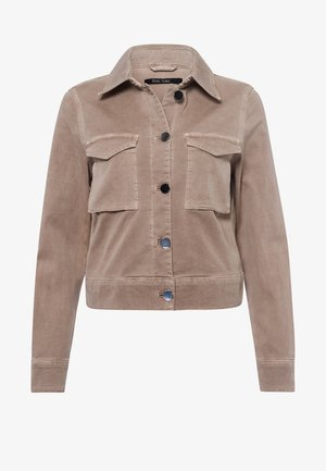Leather jacket - taupe varied