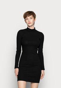 Even&Odd - BASIC - Žerzejové šaty - black - 0