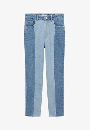 MIT NÄHTEN - Straight leg jeans - mittelblau