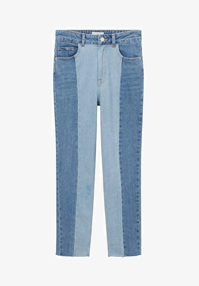 MIT NÄHTEN - Jeans a sigaretta - mittelblau