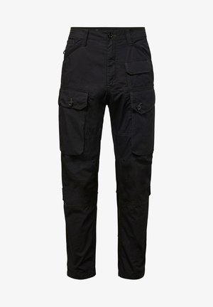 JUNGLE RELAXED TAPERED - Cargo trousers - dk black