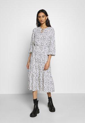 DITSY SMOCK MIDI DRESS - Day dress - white