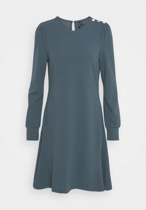 VMJASMINE BUTTON DRESS - Jerseykjole - ombre blue