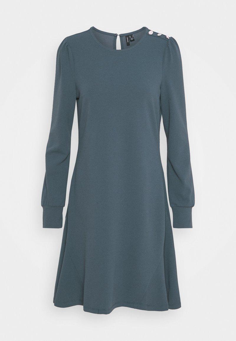 Vero Moda - VMJASMINE BUTTON DRESS - Jersey dress - ombre blue