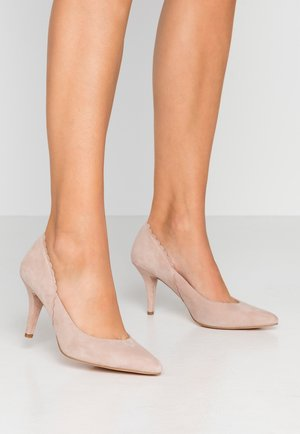 LEATHER PUMPS - Czółenka - beige