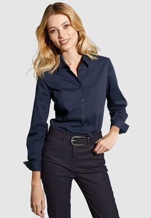 Button-down blouse - marineblau