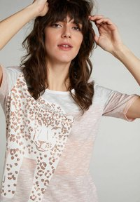 Oui - Print T-shirt - rose orange - 3