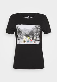 ONLY Petite - ONLPEANUTS LIFE TOP BOX - Print T-shirt - black - 0