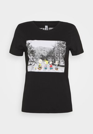 ONLPEANUTS LIFE TOP BOX - T-shirts print - black