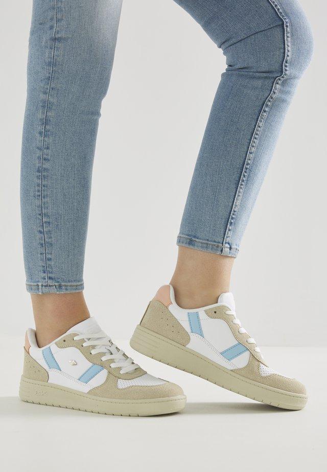 RAWW - Sneakers laag - white/blue/peach
