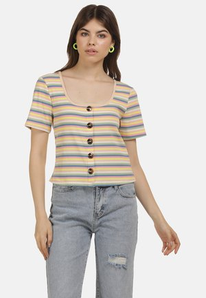 Print T-shirt - multicolor gestreift