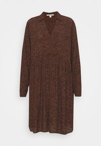 Esprit - EASY TUNIC DRESS - Day dress - brown - 5
