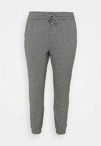 Vero Moda Curve - VMEVA LOOSE TRACK PANTS - Tracksuit bottoms - medium grey melange - 3