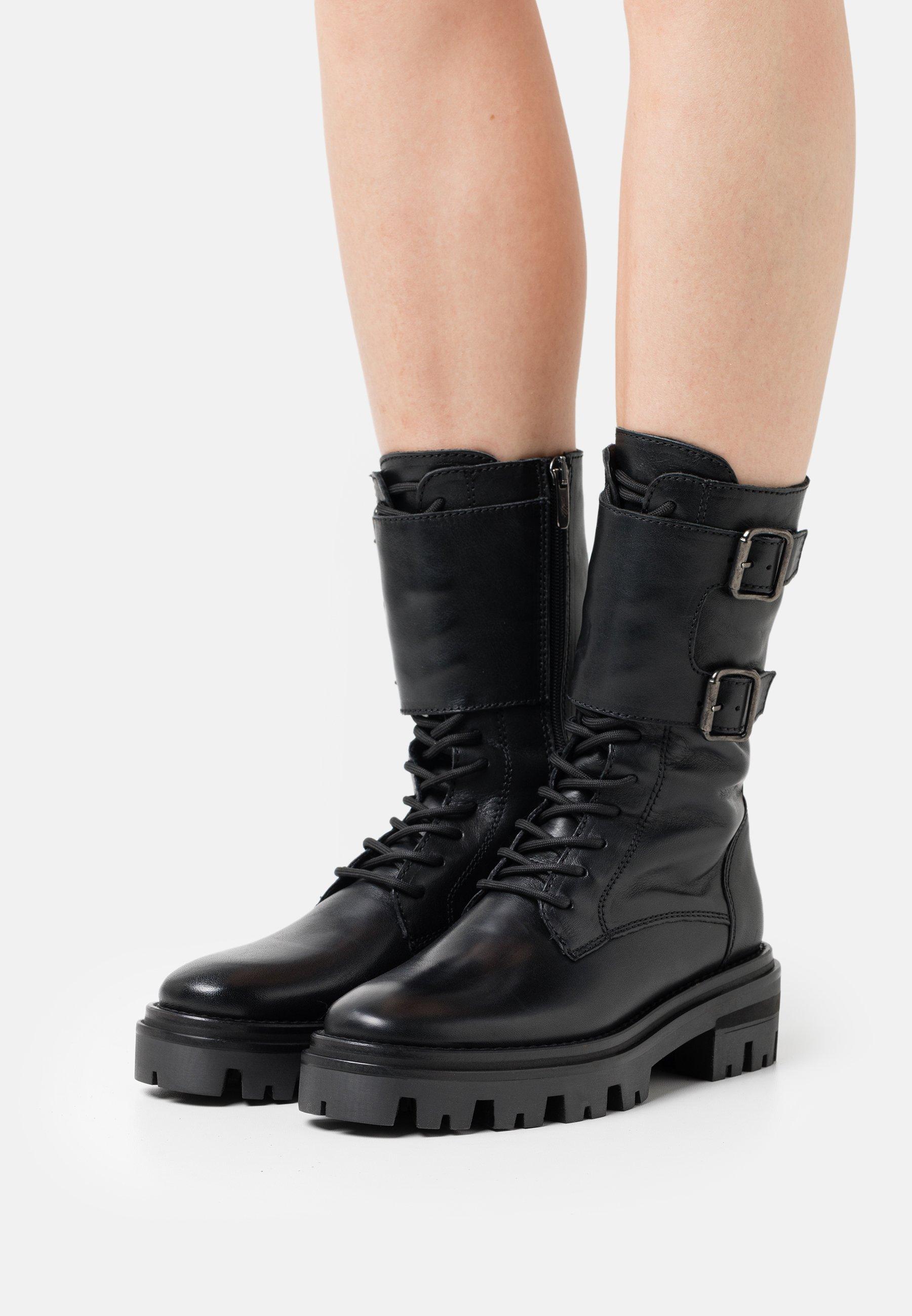 Women MONZA - Lace-up boots - black