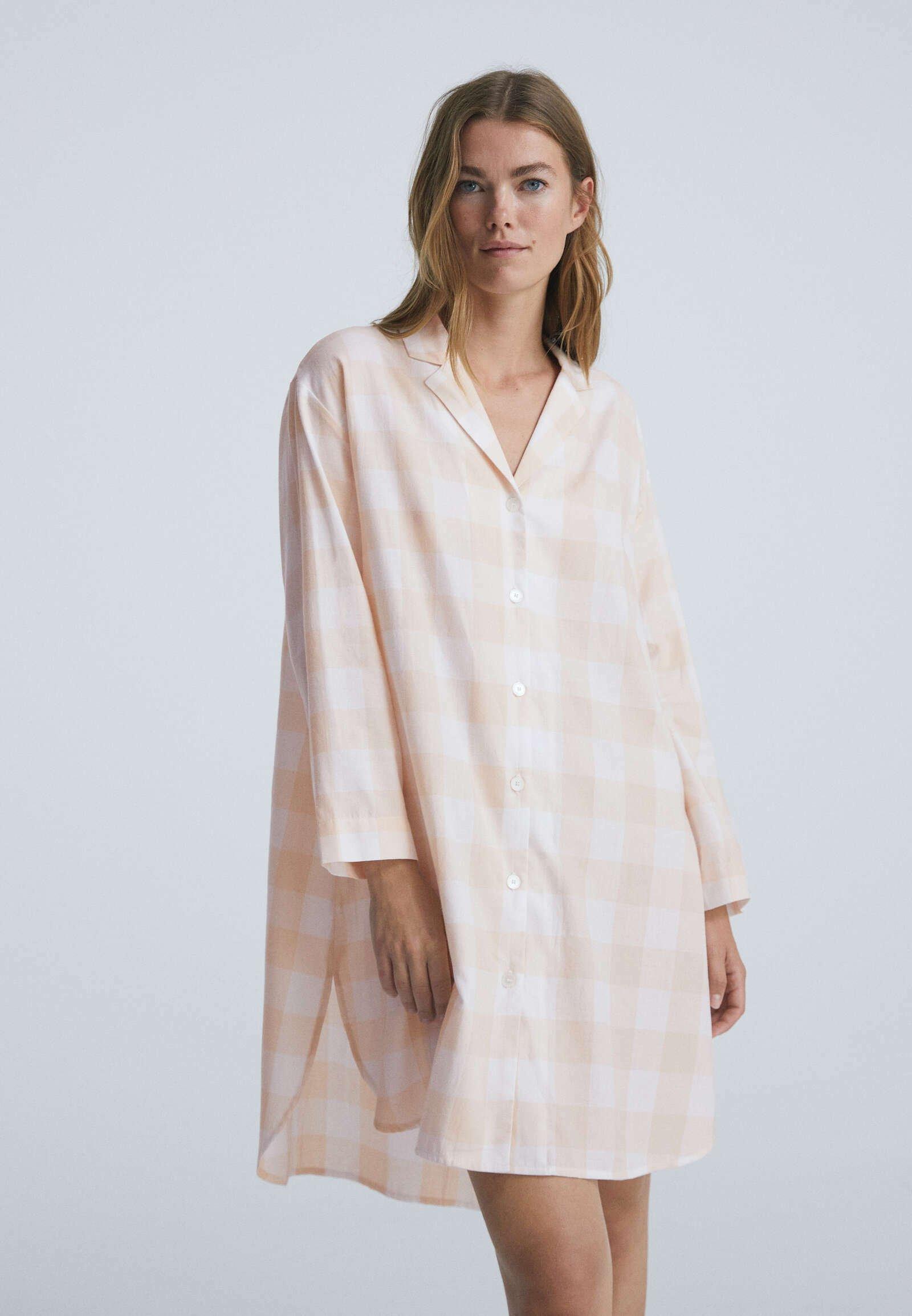 Donna LANGES MIT VICHY-KAROS  - Camicia da notte