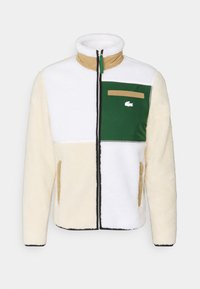 Lacoste LIVE - UNISEX - Giacca in pile - naturel clair/multicoloured - 0