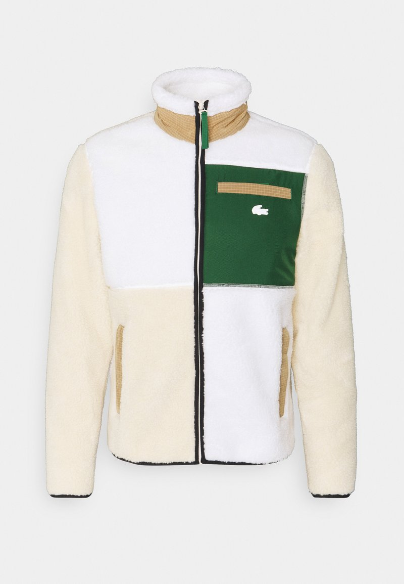 Lacoste LIVE - UNISEX - Giacca in pile - naturel clair/multicoloured
