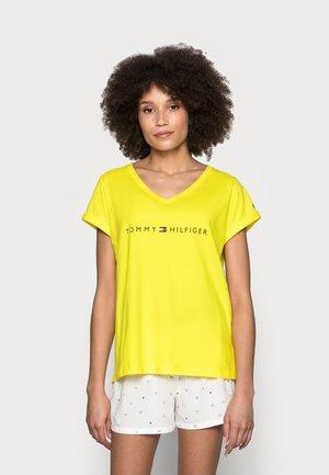 SHORT SET - Pyjamas - neon yellow/white