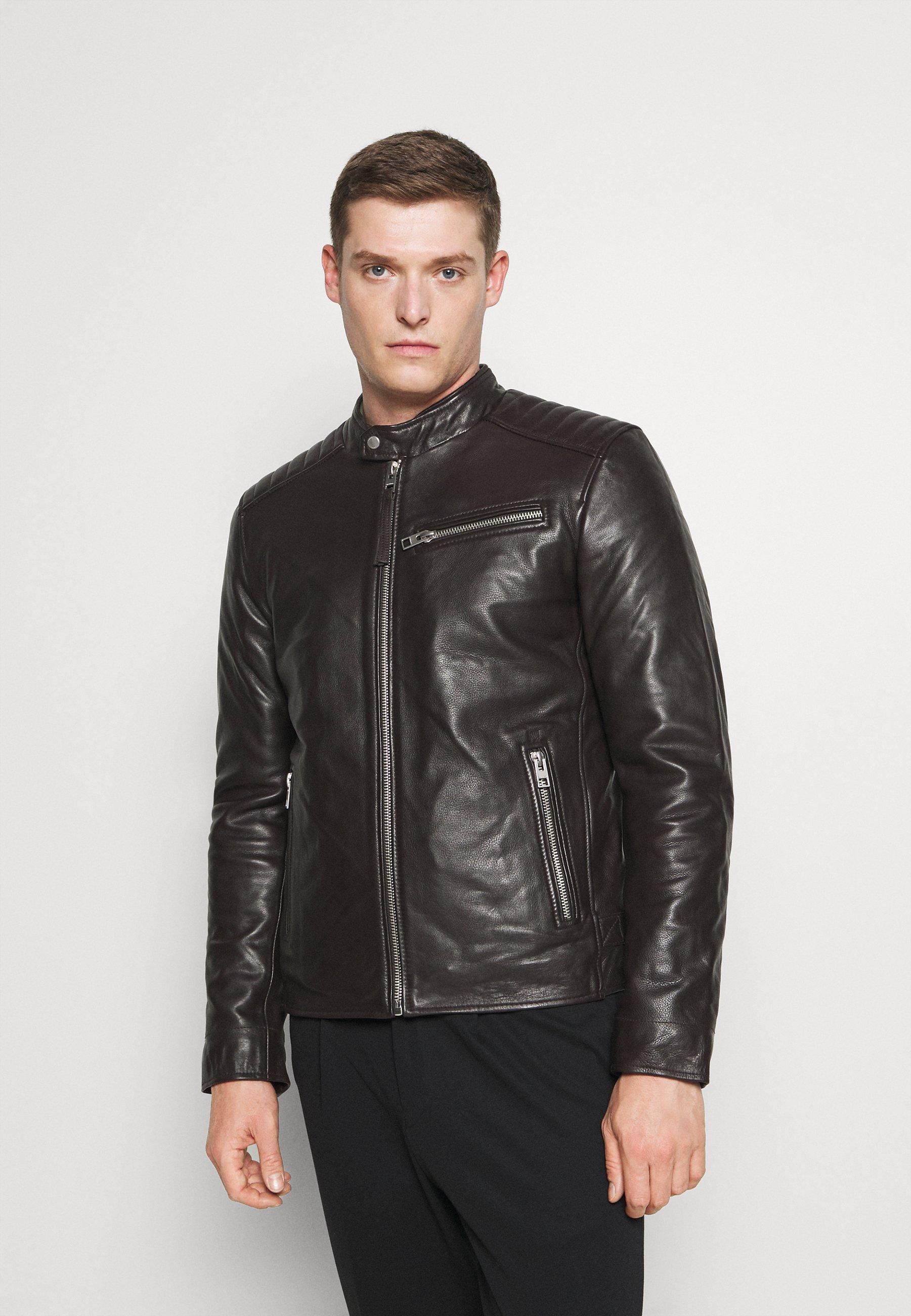 Men STEEL - Leather jacket