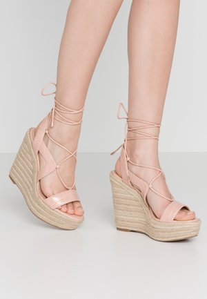 OXANDRA - High heeled sandals - light pink