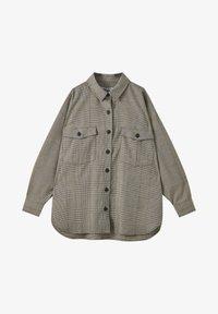 PULL&BEAR - Button-down blouse - mottled black - 5