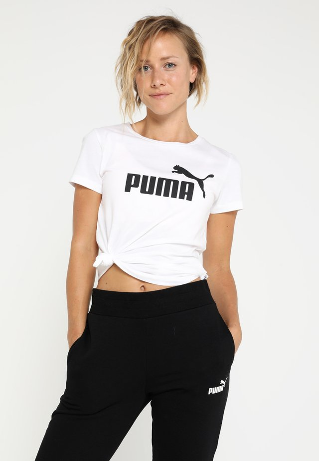 Camiseta estampada - puma white