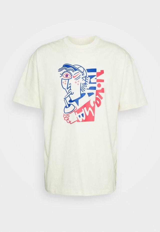 TEE SLURP UNISEX - T-shirts med print - coconut milk