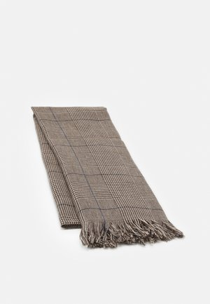 CHECK - Scarf - brown/blue