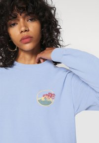 BDG Urban Outfitters - SKATE GRAPHIC TEE - Long sleeved top - baby blue - 2