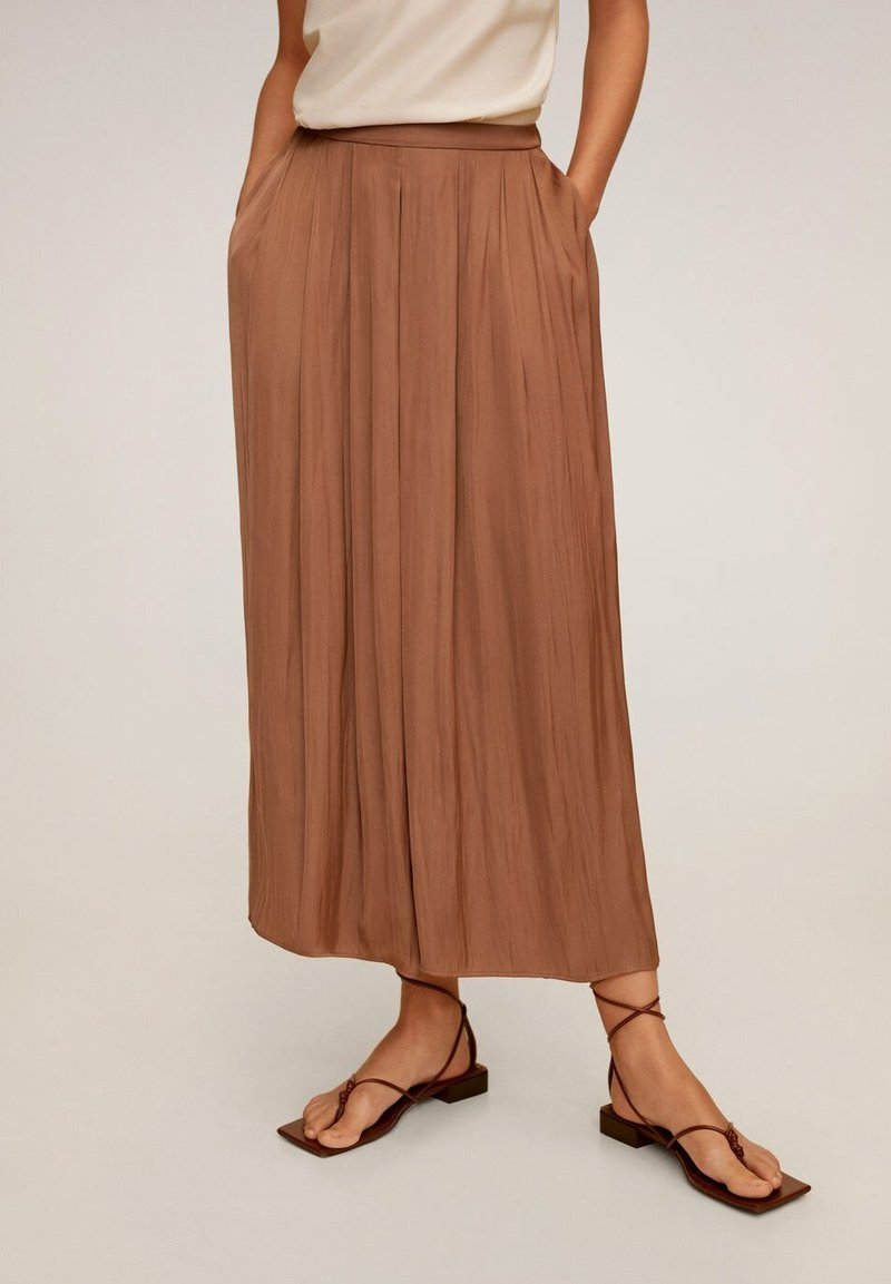 Mango - MEMORY - Trousers - marron