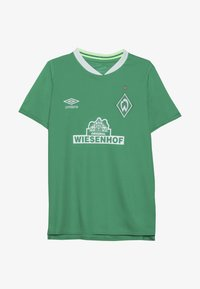 Umbro - WERDER BREMEN HOME - Print T-shirt - golf green/brilliant white - 2