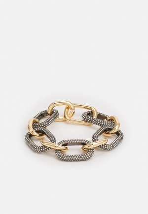 CHUNKY PAVE LINK BRACELET - Pulsera - gold-coloured