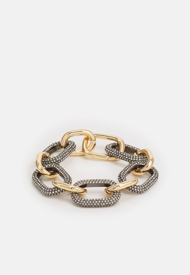 CHUNKY PAVE LINK BRACELET - Armband - gold-coloured